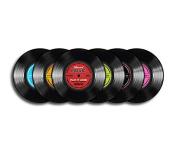 Vinyl Record Coaster – Record Music – Set of 6