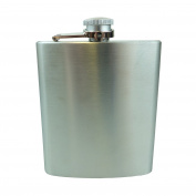 Bid Buy Direct® Stainless Steel Leak Proof Liquor Hip Flask 200ml | Premium Quality Makes the ideal present - For Men & Women! Eco-Friendly and Safe Food Grade Material