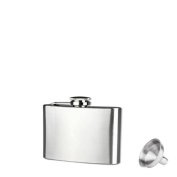 4 5 6 7 8 270ml Stainless Steel Pocket Hip Flask Alcohol Whiskey Liquor Screw Cap with a Funnel Great Gifts (120ml