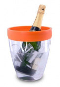 Pulltex Champagne Bucket with Silicone Border – Orange