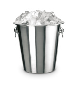 Supreminox Ice Bucket with Ring, 14 cm, Stainless Steel, Silver, 30 x 14 x 30 cm