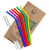 Reusable Silicone Straws BPA Free – (x6) STANDARD WIDTH 590ml, 890ml, Eco Friendly for Safely Drinking Hot & Cold Drinks | Premium Quality, Seraphina's Kitchen | Protect Your Teeth Now!