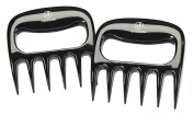 Jasons Pair of BBQ Grilling Meat Shredding Claws Black Long Lasting Solid Plastic Complete With Red Storage Pouch Bonus