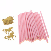 25Pcs Paper Drinking Straws Birthday Party Decor - Pink