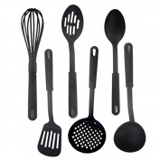 Bazaar Kitchen Slotted Spatula Spoon Mixing Holder Dinner Food Rice Wok Shovels Supplies