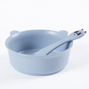 ZWANDP Panda modelling anti-hot bowl Feeding Bowl and Spoon Set Children's baby bowl spoon set