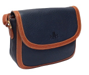 Rowallan Women's Leather Shoulder Bag, Navy