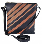 Gigi Soft Leather Top Zip Two - Tone Crossbody Handbag