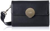 LYDC London G1712, Women's Cross-Body Bag, Schwarz (Black), 8x14x20 cm