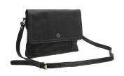 Mala Leather TUDOR Collection Leather Shoulder Bag 7117_88 Black