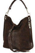 Shoulder Bag Shopper Pouch Mod. 2107 genuine croco-look Leather Italy