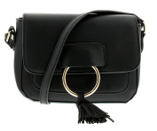 New Ladies/Womens Black Small Fashion Bags With Trim And Tassel - Black - UK SIZES 1-1