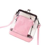 Tinksky Women's Transparent Shoulder Bag Clear Bag Crossbody Bag Purse Wallet