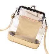Tinksky Women's Transparent Shoulder Bag Clear Bag Crossbody Bag Purse Wallet