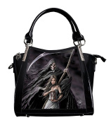 ANNE STOKES 3D Large Hand Bag Black PVC Goth Skeleton 'Summon The Reaper'