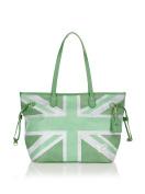 Y NOT. Women's Shoulder Bag White Blanco / Verde