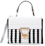 Coccinelle Arlettis Merletto Shoulder Bag black white