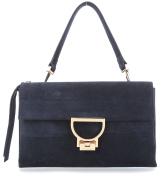 Coccinelle Arlettis Suede Shoulder Bag dark blue