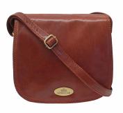 Rowallan Brown Leather Shoulder Bag