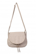 PILOT® Women's Foldover Flap Faux Leather Shoulder Bag in Stone