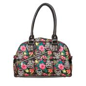 BANNED Clothing Handbag HIBISCUS Flowers Sugar Skulls Bag Rockabilly