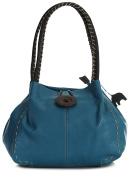 BHSL Womens Trendy Designer Boutique Large Button Detail Shoulder Bag With Elephant Charm and Dust Bag