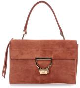 Coccinelle Arlettis Suede Shoulder Bag orangebrown