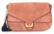 Coccinelle Ambrine Suede Shoulder Bag brown