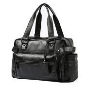Men's Leather Vintage Handbag Laptop Bag Briefcase Messenger Bag