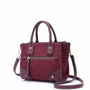 Retro All Match Wing Bag Fashion Shoulder Messenger Bag Handbags , purplish red