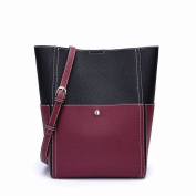 Contrast Colour Mother Bag Shoulder Bag Fashion Handbags Handbags , black