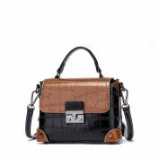 Contrast Colour Small Square Bag Fashion All Match Shoulder Messenger Handbag Handbags , black
