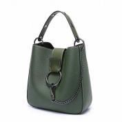 Casual Bucket Bag Fashion All Match Shoulder Messenger Handbag Handbags , green