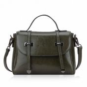 Trend Handbag Leather Small Bag Shoulder Messenger Bag Female Handbag , olive green black