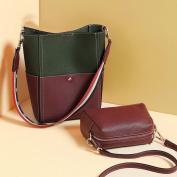 Contrast Colour Mother Bag Shoulder Bag Fashion Handbags Handbags , grey