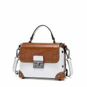 Contrast Colour Small Square Bag Fashion All Match Shoulder Messenger Handbag Handbags , white