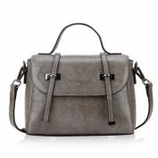 Trend Handbag Leather Small Bag Shoulder Messenger Bag Female Handbag , grey