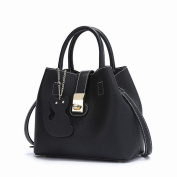 Fashionable Mother Bag Casual Trend Shoulder Messenger Handbag Handbags , black