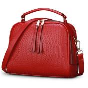 Ladies shoulder bag, Messenger bag, Embossed tassel bag, Fashion shoulder messenger bag-A