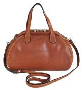 Gianni Conti Italian Small Leather Tan Classic Gladstone Shoulder Bag 913460