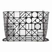 Women's Geometric Bag Matte Shoulder Bag Handbags,Silver