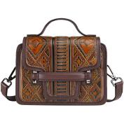 Womens Vintage PU Leather Tote Bag Shoulder Sling Bag Satchel Berchirly