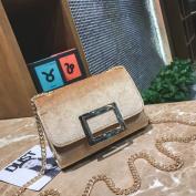 Square Buckle Shoulder Bag Velvet Packet Messenger Bag Short Hair Gold Velvet Small Square Bag Handbags , yellow