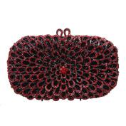 Bonjanvye Glitter Floral Purse Bling Party Handbags for Ladies