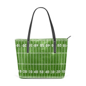 COOSUN American Football Field PU Leather Shoulder bag Purse and handbags Tote Bag for women