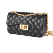 Lady messenger bag, Matte diamond pattern, Square bag, Single shoulder bag, Chain bag, Handbag-B