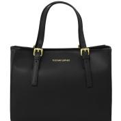 Tuscany Leather Aura Ruga leather handbag Black