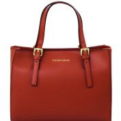 Tuscany Leather Aura Ruga leather handbag Dark red Leather handbags