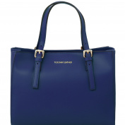 Tuscany Leather Aura Ruga leather handbag Dark Blue Leather handbags