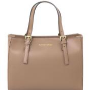 Tuscany Leather Aura Ruga leather handbag Dark Taupe Leather handbags